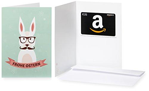 Amazon.de Grußkarte mit Geschenkgutschein – 25 EUR (Hipster-Hase)