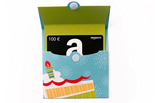 Amazon.de Geschenkgutschein in Geschenkkuvert – 100 EUR (Geburtstagstorte)