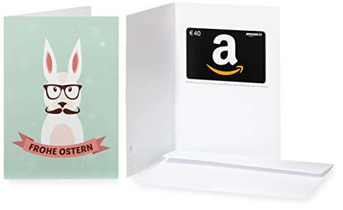 Amazon.de Grußkarte mit Geschenkgutschein – 40 EUR (Hipster-Hase)