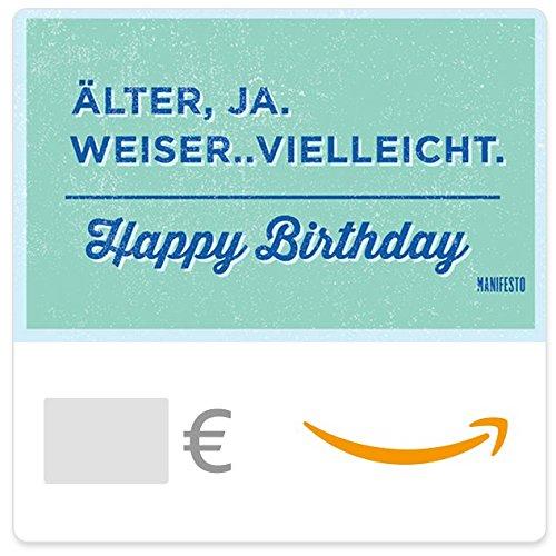 Digitaler Amazon.de Gutschein (Älter und weiser?) [Manifesto]
