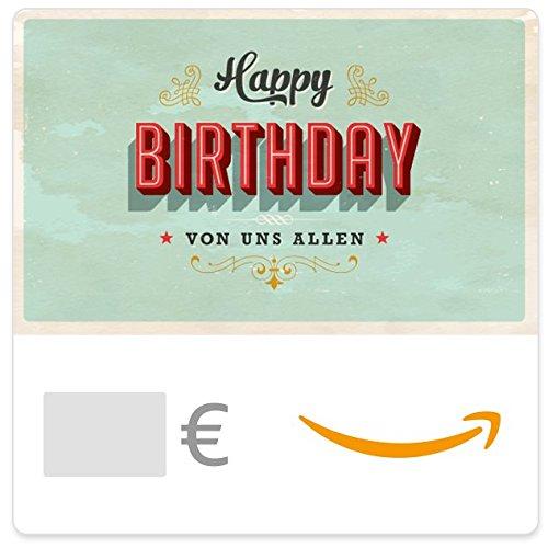Digitaler Amazon.de Gutschein (Geburtstag Vintage)