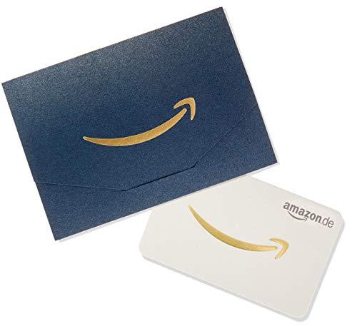 Amazon.de Geschenkkarte in Geschenkkuvert (Navy und Gold)