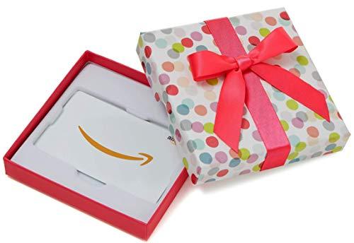 Amazon.de Geschenkkarte in Geschenkbox (Bunte Punkte)