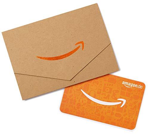 Amazon.de Geschenkkarte in Geschenkkuvert – 30 EUR (Karton & Orange)