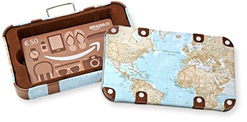 Amazon.de Geschenkkarte in Geschenkbox – 50 EUR (Reisekoffer)