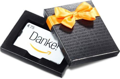 Amazon.de Geschenkkarte in Geschenkbox – 75 EUR (Danke)