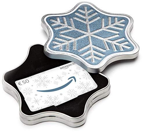 Amazon.de Geschenkkarte in Geschenkbox – 50 EUR (Schneeflocke)