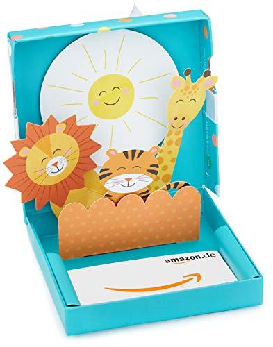 Amazon.de Geschenkkarte in Geschenkbox (Willkommen Baby)