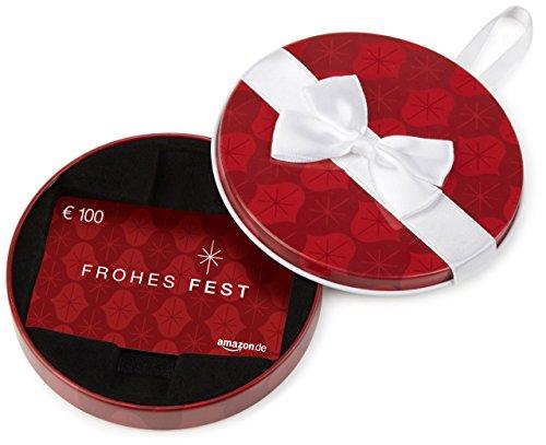 Amazon.de Geschenkkarte in Geschenkbox – 100 EUR (Frohes Fest)