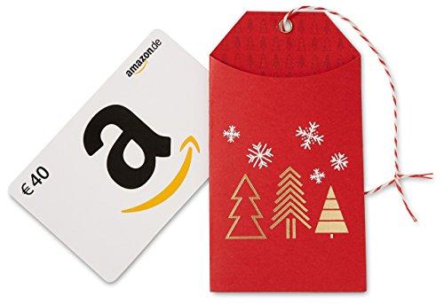 Amazon.de Geschenkkarte in Geschenkanhänger – 40 EUR (Weihnachten)