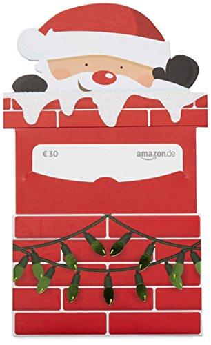 Amazon.de Geschenkkarte in Geschenkschuber – 30 EUR (Weihnachtsmann)