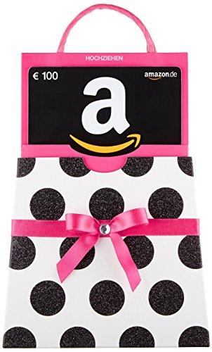 Amazon.de Geschenkkarte in Geschenkkuvert – 100 EUR (pinke Schleife)