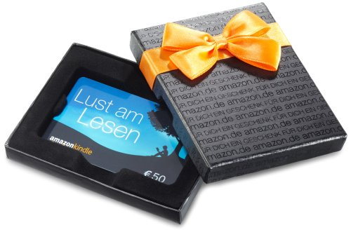 Amazon.de Geschenkkarte in Geschenkbox – 50 EUR (Kindle)