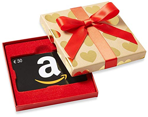 Amazon.de Geschenkkarte in Geschenkbox – 50 EUR (Goldene Herzen)