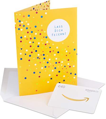 Amazon.de Geschenkkarte in Premium Grußkarte – 40 EUR (Alles Gute)