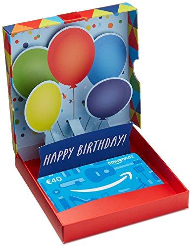 Amazon.de Geschenkkarte in Geschenkbox – 40 EUR (Geburtstagsüberraschung)