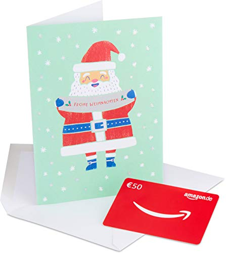 Amazon.de Geschenkkarte in Premium Grußkarte – 50 EUR (Weihnachten)