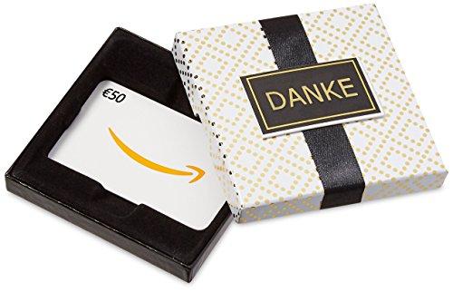 Amazon.de Geschenkkarte in Geschenkbox – 50 EUR (Danke)