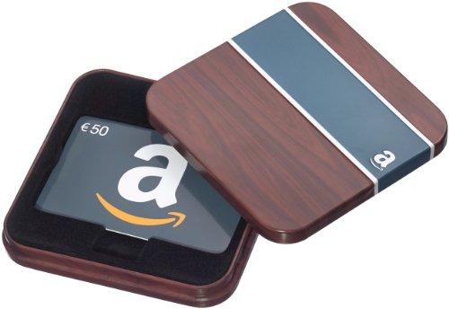 Amazon.de Geschenkkarte in Geschenkbox – 50 EUR (Braun und Blau)